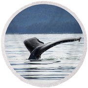 Petersburg Ak Whale Tale 5 Round Beach Towel
