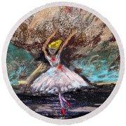 Petite Ballerina Round Beach Towel