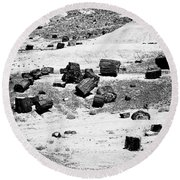 Petrified Forest National Park #3 Round Beach Towel