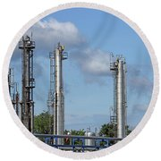 Petrochemical Plant Refinery Industry Zone Round Beach Towel