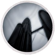 Petronas Towers Round Beach Towel