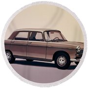 Peugeot 404 1960 Painting Round Beach Towel