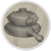 Pewter Pan Round Beach Towel