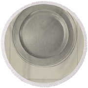 Pewter Plate Round Beach Towel