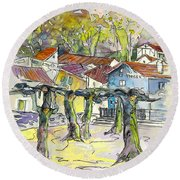 Peyrehorade 03 Round Beach Towel