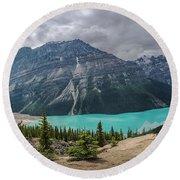 Peyto Lake Banff Round Beach Towel