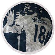 Peyton Manning Broncos 2 Round Beach Towel