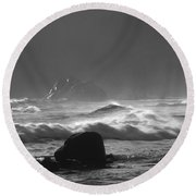 Pfeiffer Beach Sp 8245 Round Beach Towel
