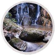 Pha Sua Waterfall Round Beach Towel