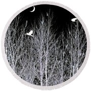 Phantom Birds Round Beach Towel