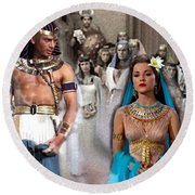 Pharaoh Of Egypt Exodus 2 Round Beach Towel