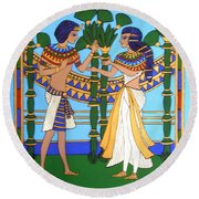 Pharaoh Round Beach Towel