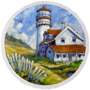 Phare 005 Round Beach Towel