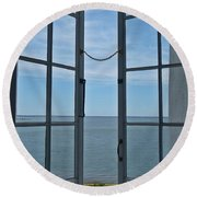 Phare Fenetre Lighthouse Window Round Beach Towel