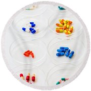 Pharmaceutical Research Round Beach Towel
