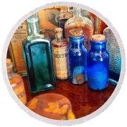 Pharmacist - Medicine Cabinet  Round Beach Towel by Mike Savad