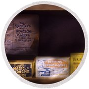 Pharmacy - Medicine - Blood Purifiers  Round Beach Towel