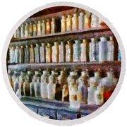 Pharmacy - Pick And Elixir Round Beach Towel