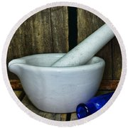Pharmacy - Mortar And Pestle - Square Round Beach Towel