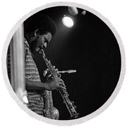 Pharoah Sanders 1 Round Beach Towel
