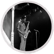Pharoah Sanders 5 Round Beach Towel
