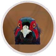 Pheasant Round Beach Towel