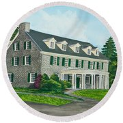 Phi Gamma Delta Round Beach Towel by Charlotte Blanchard