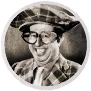 Phil Silvers, Comedy Legend Round Beach Towel