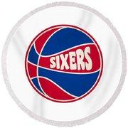 Philadelphia 76ers Retro Shirt Round Beach Towel