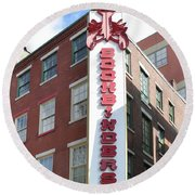 Philadelphia - Bookbinders Round Beach Towel