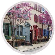 Philadelphia Blossoming In The Spring Round Beach Towel