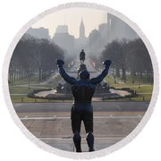Philadelphia Champion - Rocky Round Beach Towel