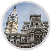 Philadelphia City Hall #2 Round Beach Towel