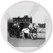 Philadelphia Fire Department Engine - C 1905 Round Beach Towel