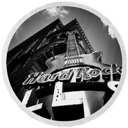 Philadelphia Hard Rock Cafe  Round Beach Towel by Bill Cannon