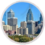 Philadelphia In Tight Round Beach Towel
