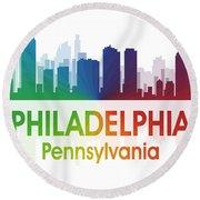 Philadelphia Pa Round Beach Towel