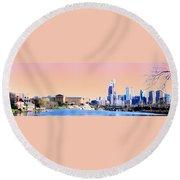 Philadelphia Panoramic Round Beach Towel