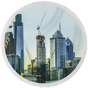 Philadelphia - Still Growing Round Beach Towel