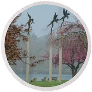 Philadelphia - Three Angels In Spring Round Beach Towel
