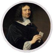 Philippe De Champaigne    Jean Baptiste Colbert 16191683 Round Beach Towel