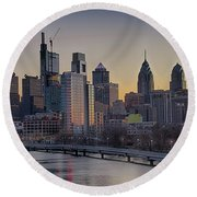Philly Before Dawn From South Street Round Beach Towel