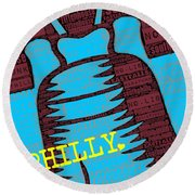 Philly Liberty Bell Round Beach Towel