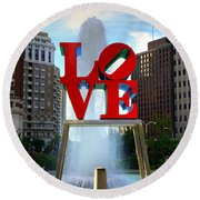 Philly Love Round Beach Towel