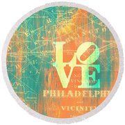 Philly Love V10 Round Beach Towel