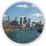 Philly Winter Round Beach Towel
