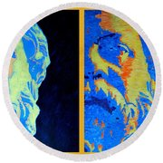 Philosopher - Socrates 2 Round Beach Towel