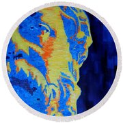 Philosopher - Socrates 3 Round Beach Towel