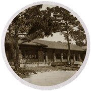 Phoebe A Hearst Social Hall Asilomar Pacific Grove Circa 1925 Round Beach Towel