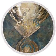 Phoenix From The Stone Round Beach Towel